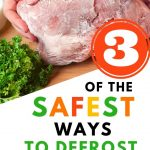 Food Safety Superhero Fighting Food-borne illness and food poisoning prevention - Safe way to defrost meat quickly