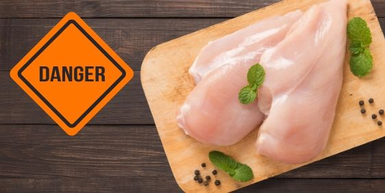 Food Safety Superhero Fighting Food-borne illness and food poisoning prevention - How to sanitize a wooden cutting board do not put raw chicken on a wooden cutting board