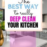 How long does it take to deep clean a kitchen thoroughly to get rid of germs and bacteria