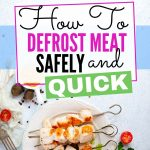How to defrost meat quickly and safe