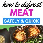How to defrost meat quickly and safely without a microwave