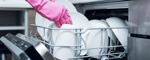 Food Safety Superhero Fighting Food-borne illness and food poisoning prevention - How to sanitize a dishwasher