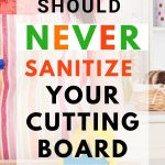 Food Safety Superhero Fighting Food-borne illness and food poisoning prevention -Why you should never sanitize your cutting board with vinegar