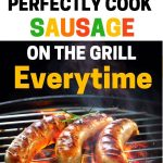 Food Safety Superhero fighting food-borne illness and food poisoning prevention - how to not undercook sausage on the grill by cooking it perfectly