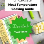 food safety superhero fighting food-borne illness and food poisoning prevention printable meat temperature cooking guide
