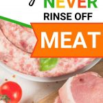 Food Safety Superhero Fighting Food-borne illness and food poisoning prevention - Why rinsing off meat is the worst thing you can do