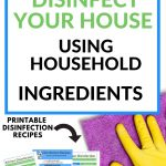 how to disinfect your kitchen using household products