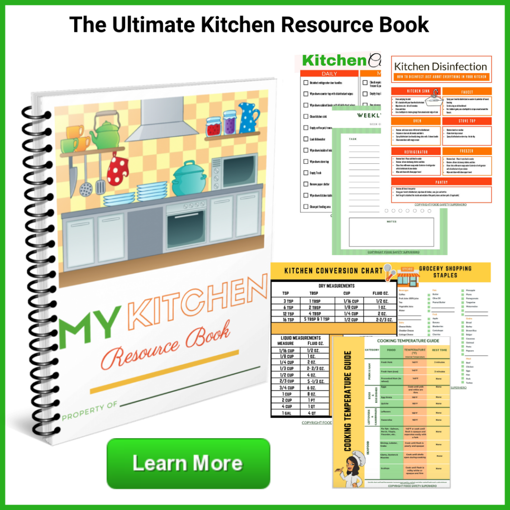 The Kitchen Resource Book Do you sometimes feel overwhelmed with chaos in the kitchen printable kitchen food storage chart cleaning checklists