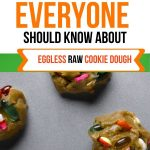 Food Safety Superhero Fighting Food-borne illness and food poisoning prevention - cookie dough with raw eggs eating raw flour