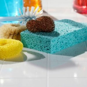 food safety superhero fighting food-borne illness and food poisoning prevention how to disinfect sanitize and clean kitchen sponges using bleach