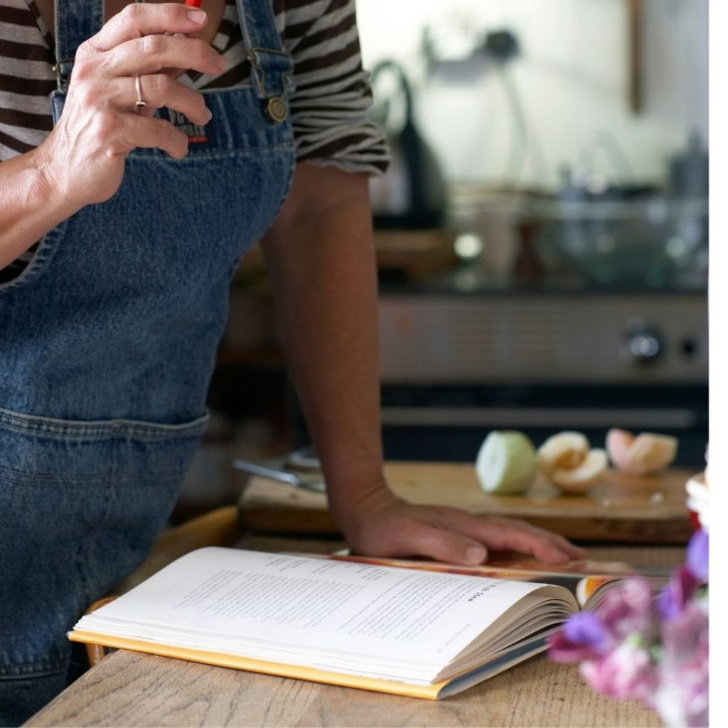 How to look in a recipe book for meals while meal planning