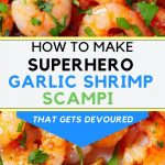 how to make easy garlic shrimp scampi