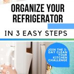 HOW TO ORGANIZE YOUR REFRIGERATOR IN 3 EASY STEPS