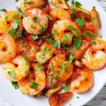 superhero garlic shrimp scampi