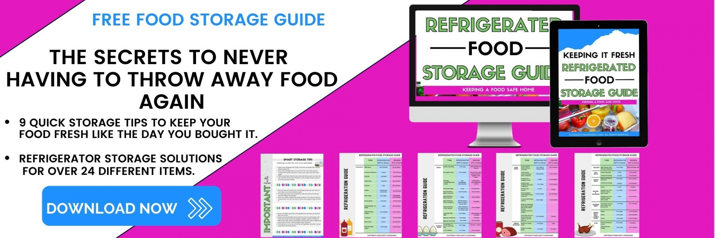 FREE GUIDE ULTIMATE FOOD STORAGE AND COOKING TEMPERATURE SLIDER