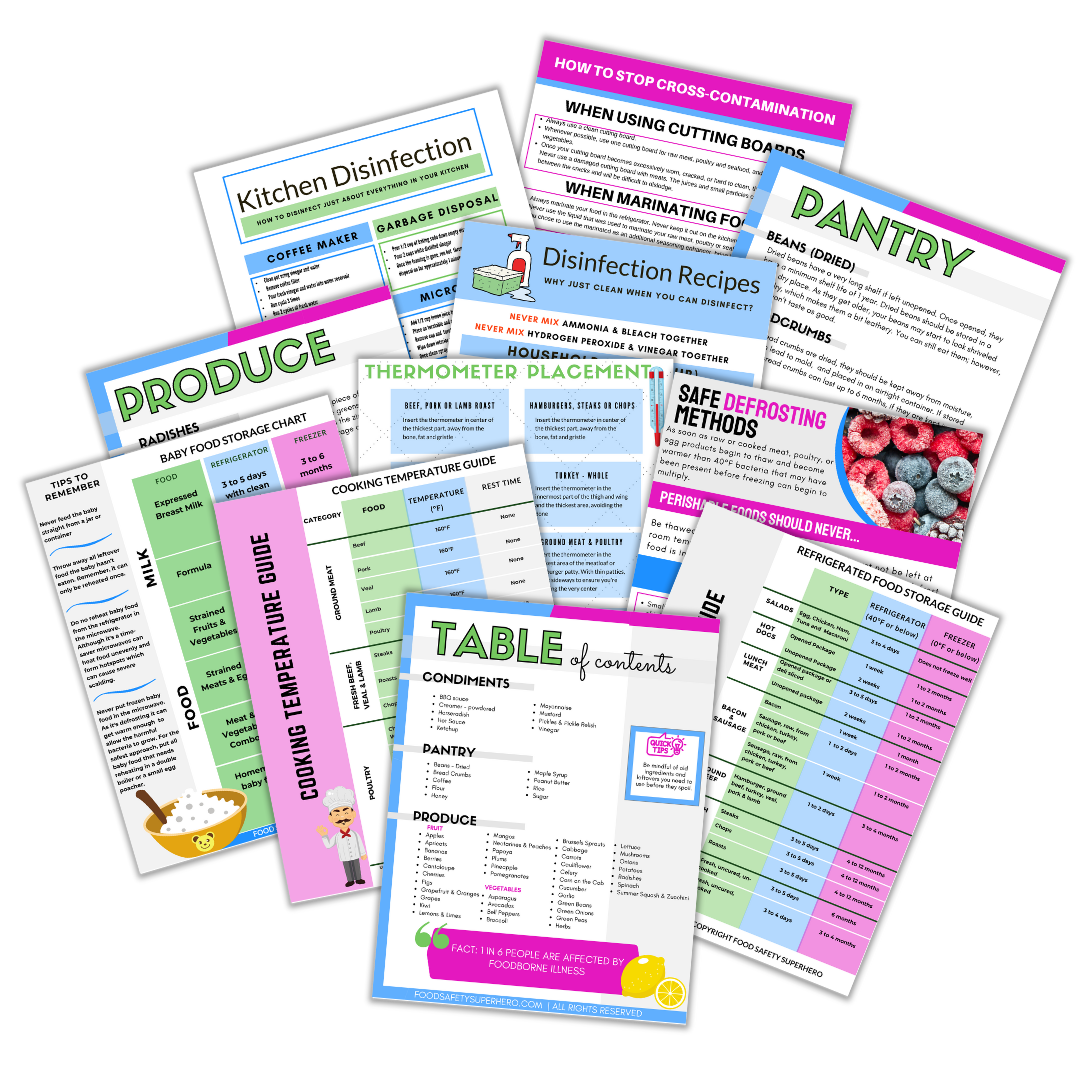 food safetysuperhero printable shop